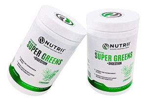 Nutrii - #1 Organic Super Greens + Probiotics + Digestive Enzymes, Turmeric and Ashwagandha Infused  (10.89oz, 30 Serv)