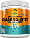 Calming Treats For Dogs - Anxiety Composure Relief with Suntheanine - Organic Kelp & Valerian Root + L Tryptophan for Dog 90 Chews