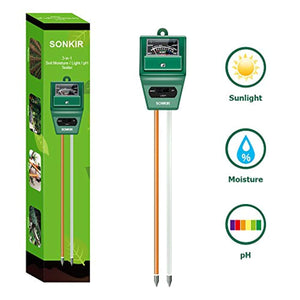Sonkir Soil pH Meter, Tester Gardening Tool Kits for Plant Care