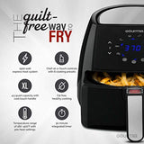 Gourmia GAF570 4.5 Qt Digital Air Fryer | Oil-Free Healthy Cooking | 8 Preset Cook Modes