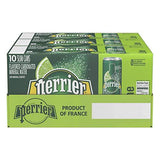 Perrier Lime Flavored Carbonated Mineral Water, 8.45 fl oz. Slim Cans (30 Count)