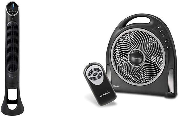 Honeywell QuietSet Whole Room Tower Fan Blizzard Rotating Fan with Remote Control