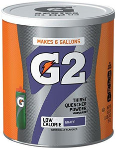 Gatorade Thirst Quencher Powder, G2 Low Calorie, Grape, 19.4 Ounce (Pack of 2)