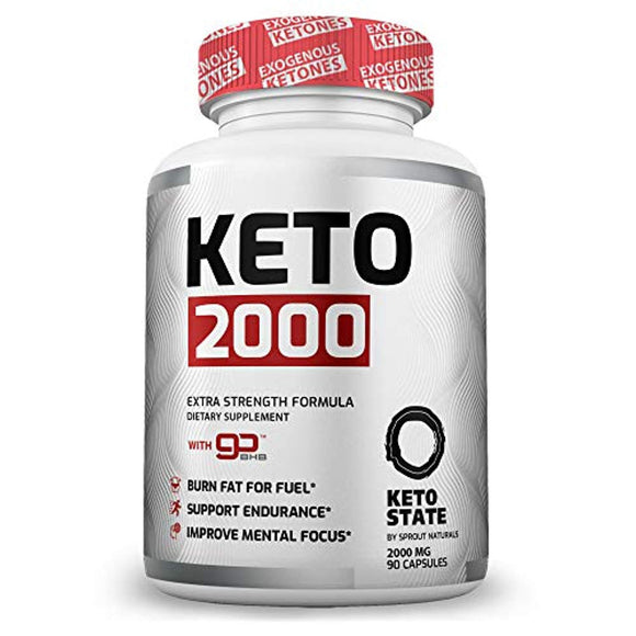 Keto Pills - Patented GoBHB Exogenous Ketones (90 ct) - Utilize Fat for Energy with Ketosis