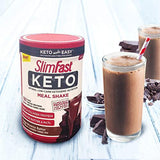 Slimfast Keto Meal Replacement Powder Fudge Brownie Batter Canister, 1 Pound