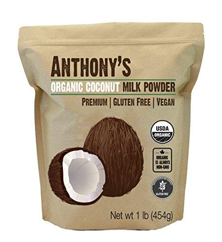 Organic Coconut Milk Powder by Anthony's (1lb), Gluten Free, Vegan & Dairy Free