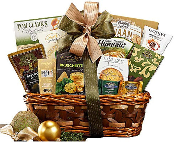 Sweet and Savory Collection Favorite Gift Basket With Cookies, Crackers, Chocolate and More