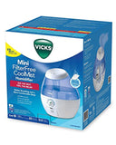Vicks Mini Filter Free Cool Mist Humidifier Small Humidifier for Bedrooms, Baby, Kids Rooms