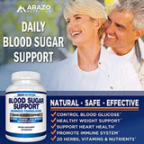 Blood Sugar Support Supplement - 20 HERBS & Multivitamin for Blood Sugar Control with Alpha Lipoic Acid & Cinnamon - 120 Pills