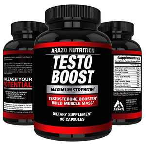 TESTOBOOST Test Booster Supplement Potent & Natural Herbal Pills Boost Muscle Growth Tribulus, Horny Goat Weed, Hawthorn, Zinc, Minerals