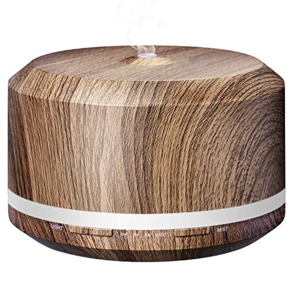 Essential Oil Diffuser 450ml, Dark Wood Grain Aromatherapy Diffusers and Air Humidifiers Set for Large Room