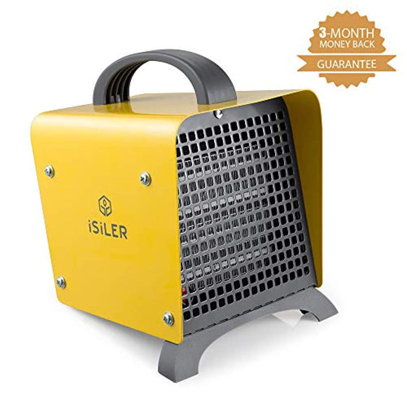 Space Heater, iSiLER 1500W Portable Indoor Heater, Ceramic Space Heater with Adjustable Thermostat