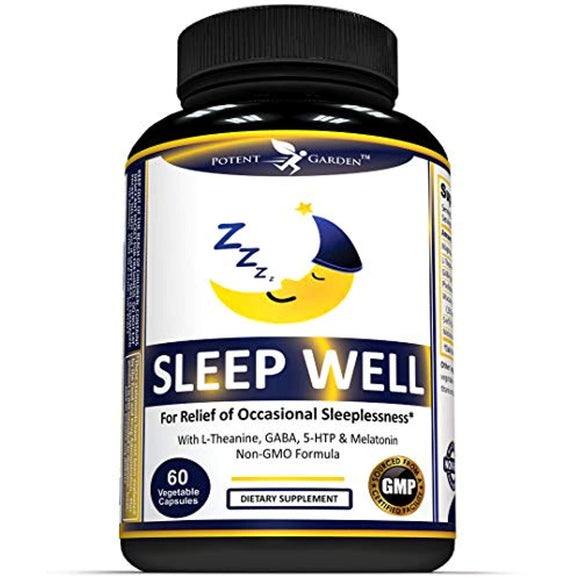 Sleep Aid with Naturally Sourced Ingredients - 60 Non Habit Forming Vegan Capsules