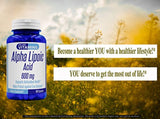 Alpha Lipoic Acid 600mg 180 Capsules - 6 Month Supply - Best Value Alpha Lipoic Acid Capsules