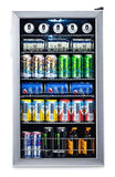 NewAir Beverage Cooler and Refrigerator, Mini Fridge with Glass Door