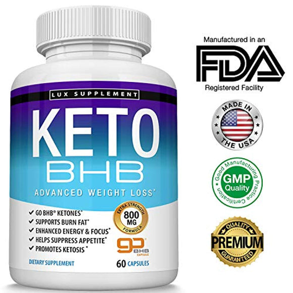 Keto Pills Advanced Weight Loss BHB Salt - Natural Ketosis Fat Burner Using Ketone & Ketogenic Diet