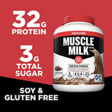 Muscle Milk Genuine Protein Powder, Chocolate 32g Protein, 4.94 Pound
