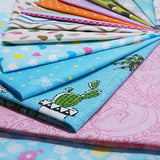 "Misscrafts 50pcs 8"" x 8"" (20cm x 20cm) Top Cotton Craft Fabric Bundle"