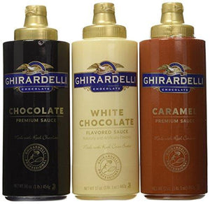Ghirardelli Squeeze Bottles - Caramel, Chocolate & White Chocolate - Set of 3