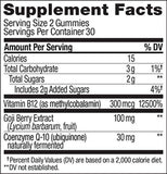 OLLY Daily Energy Gummy, 30 Day Supply (60 Gummies), Tropical Passion, Vitamin B12, CoQ10, Goji Berry, Caffeine Free,