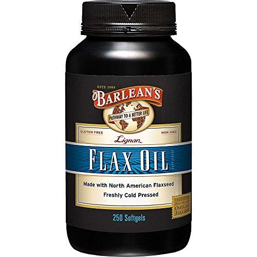 Barlean's Lignan Flax Oil,  1000 mg ea, 250 Count