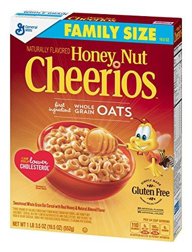 Honey Nut Cheerios, Gluten Free, Cereal with Oats, 19.5 oz Box (Pack of 3)