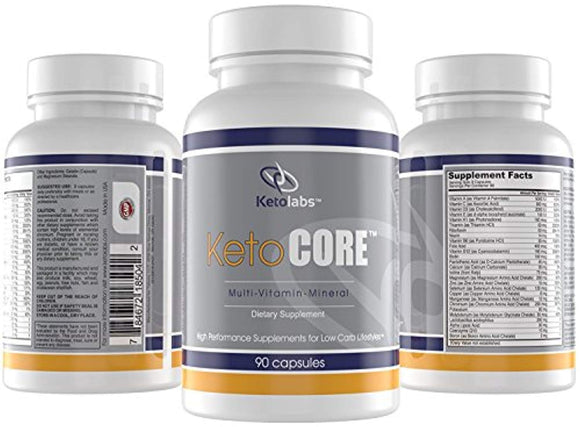 Ketolabs Keto Core Daily Multivitamin with Electrolytes, Minerals, Probiotics