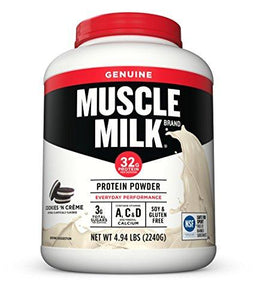 Muscle Milk Genuine Protein Powder, Cookies 'N Crème, 32g Protein, 4.94 Pound