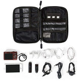 Electronic Organizer Travel Universal Cable Organizer Electronics Accessories Cases for Cable, Charger, Phone, USB, SD Card, Black