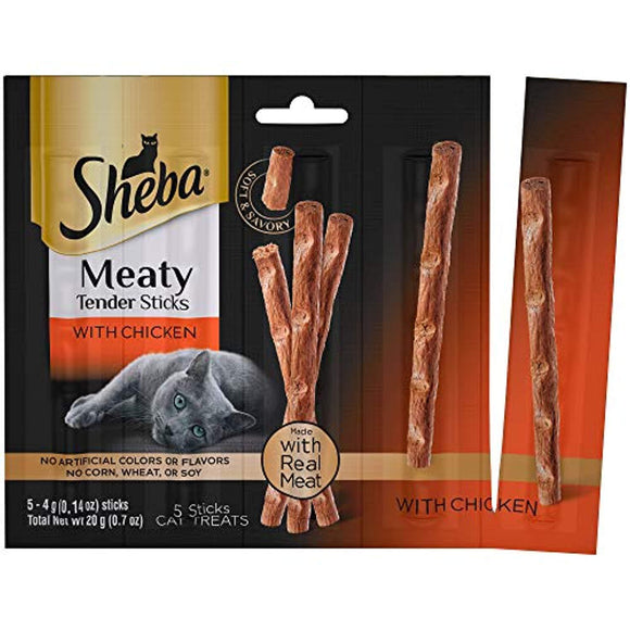 Sheba Meaty Tender Sticks Cat Treats, (50) 0.14 oz. Sticks