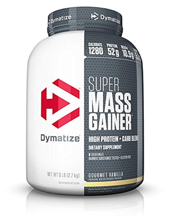 Dymatize Super Mass Gainer Protein Powder with 1280 Calories Per Serving, Gain Strength & Size Quickly, Gourmet Vanilla, 6 lbs