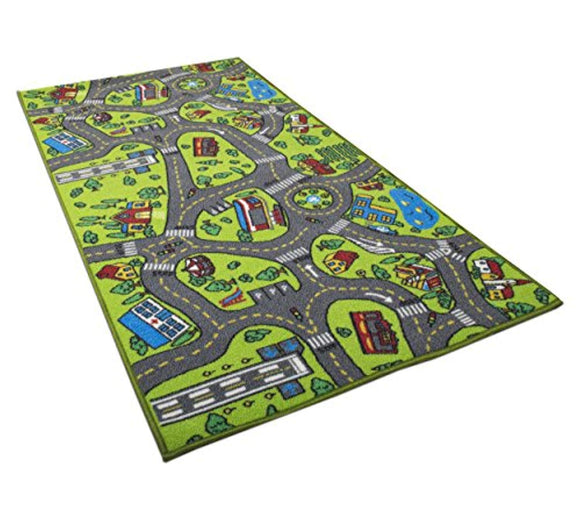 Kids Carpet Playmat Rug City Life Great for Playing with Cars and Toys - Play, Learn and Have Fun Safely