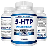 5-HTP 200 mg Supplement - 120 Capsules - Arazo Nutrition