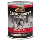 Merrick Backcountry Grain Free Wet Dog Food, 12.7 Oz, 12 Count Beef