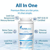 FilterLogic NSF 53&42 Certified UKF8001 Refrigerator Water Filter,