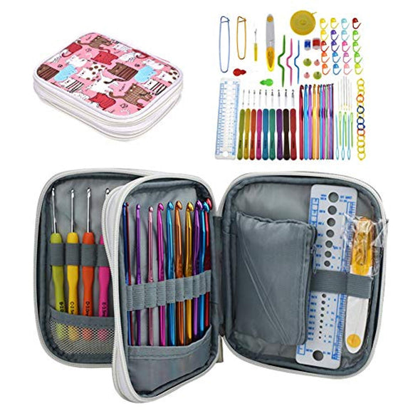 Katech Crochet Hooks Kit with Case
