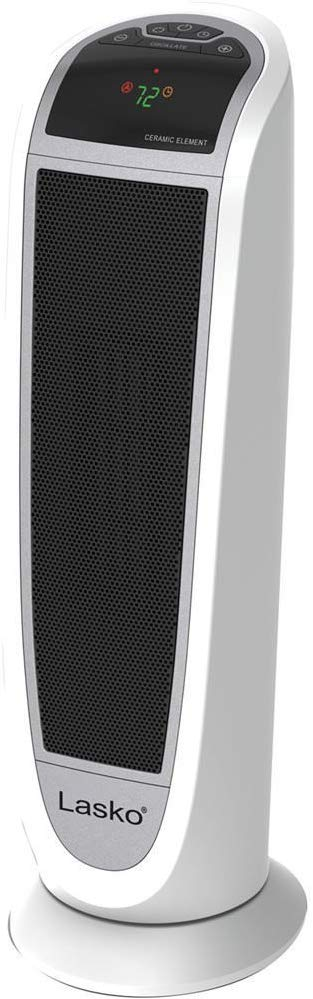 "Lasko Space Heater, 7.3""L x 8.14""W x 22.76""H, White 5165"
