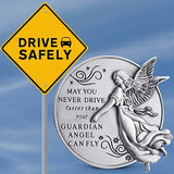 Guardian Angel Visor Clip For Car: 2-1/4 Inch Diameter Metal