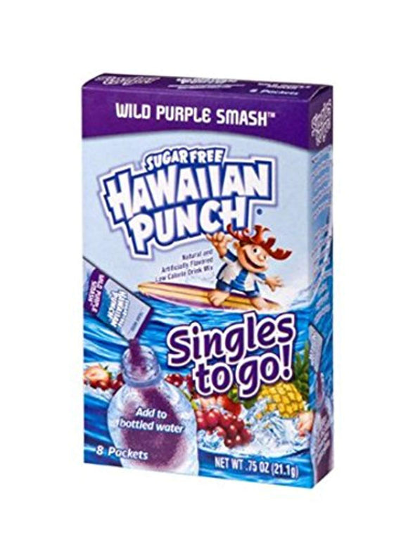 Hawaiian Punch Singles To Go Powder Sticks, Water Drink Mix, Wild Purple Smash, 96 Single Servings