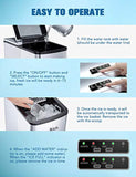 IKICH Portable Ice Maker Machine for Countertop, Ice Cubes Ready in 6 Mins