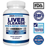 Liver Cleanse Detox & Repair Formula – 22 Herbs Support Supplement: Milk Thistle Extracts Silymarin, Beet, Artichoke, Dandelion, Chicory Root