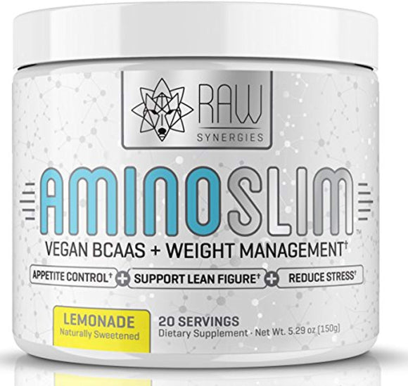 Amino Slim - Slimming BCAA Weight Loss Drink for Women, Vegan Amino Acids & L-Glutamine Powder for Post Workout Recovery