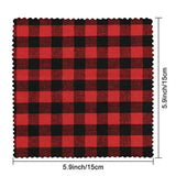 Caydo 20 Pieces Plaid Fabric Christmas Lodge Charm Pack