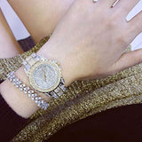 Luxury Women Watch Crystal Rhinestone Diamond Watches Stainless Steel Wristwatch with Japan Quartz Movement