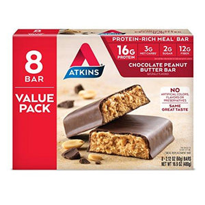 Atkins Protein-Rich Meal Bar, Chocolate Peanut Butter, 8 Count