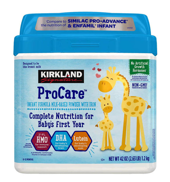 Kirkland Signature ProCare Infant  Formula 42 oz, 1 Pack