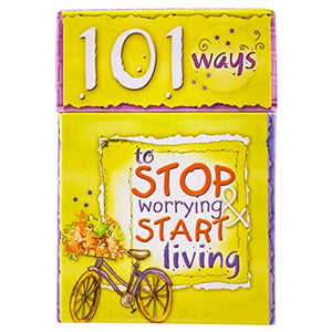 101 Ways to Stop Worrying & Start Living Cards - A Box of Blessings