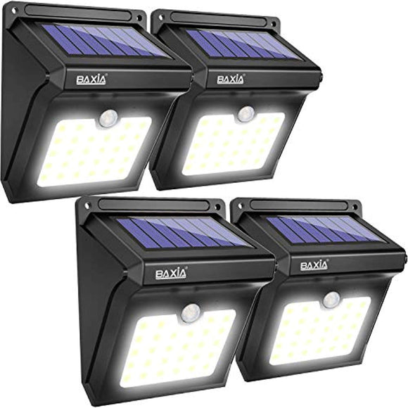 BAXIA TECHNOLOGY BX-SL-101 Solar Lights Outdoor 28 LED Wireless Waterproof Security Solar Motion Sensor Lights