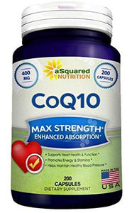 Pure CoQ10 (400mg Max Strength, 200 Capsules)