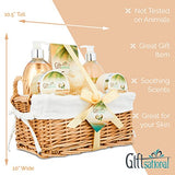 Spa Gift Basket with Tropical Coconut Fragrance in Large Willow Basket,